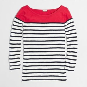 j.crew factory | color block striped tee.